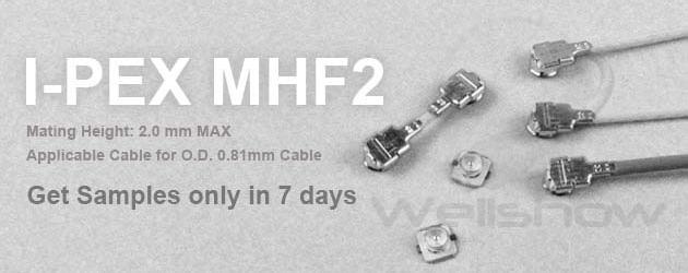 Ipex Mhf2 Mini Coax Connector Wellshow Rf Connector Rf