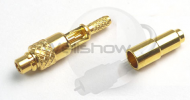 MMCX Straight Crimp Plug for 1.13, 1.32, 1.37mm