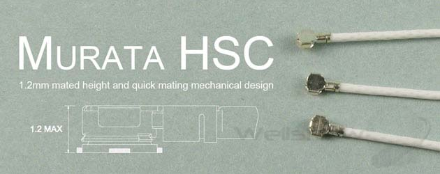 Murata HSC MXHP32 connector (Equiv. to IPEX MHF4 connector)
