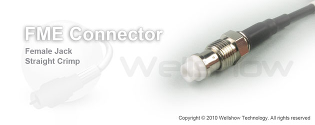 FME connector jack straight crimp for RG58, LMR195, CFD195 coaxial cable