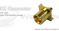 MCX connector jack straight for SMT mount