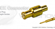 MCX connector plug straight solder for RG402, RG405 semi rigid cable and semi flex cable