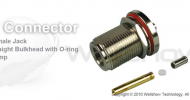 N connector jack straight crimp w/oring for RG316 coax cable