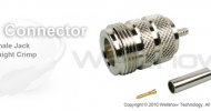 N connector jack straight crimp for RG174,RG316 coax cable
