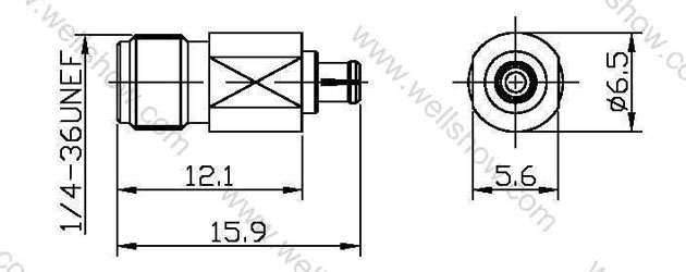 SMA Jack to IPEX MHF Plug, Straight Adaptor